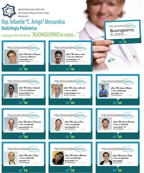 La radiologia pediatrica dell'Ospedale di Alessandria ha aderito alla campagna #buongiornoiosono